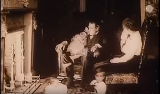 Still from Where Are My Children: At the end of the film the Waltons are visited by the spectral images of their offspring, first as children and then as young adults.