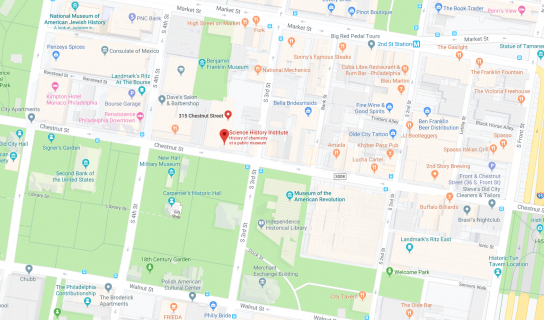 Google map of 315 Chestnut Street