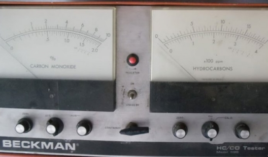 Detail of the Beckman HC/CO tester. Courtesy of Beckman Coulter Heritage Council