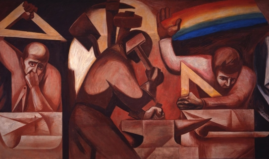 Image of mural by José Clemente Orozco