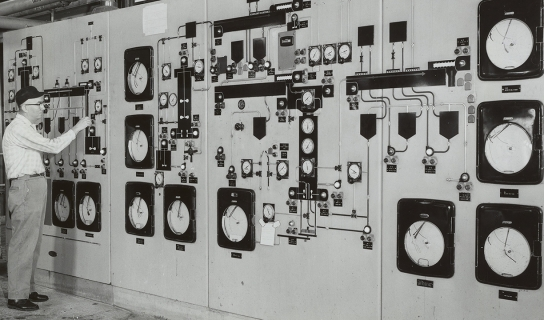 Control panel at Hercules Hopewell plant
