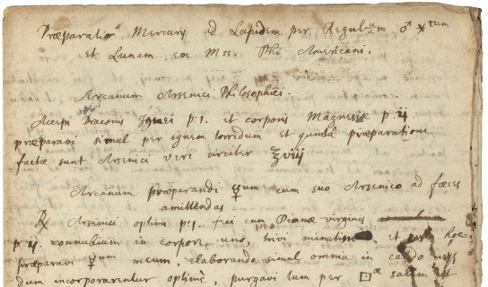 Photo of an old manuscript