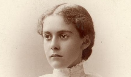 Alice Hamilton at the age of 24, the year she graduated from medical school.