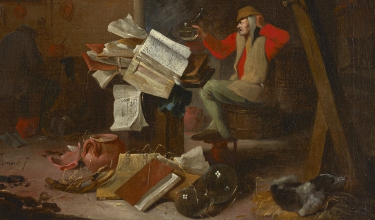 Painting of an alchemist from the 1700s