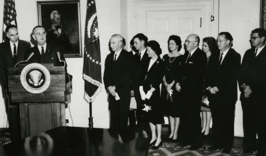 Enrico Fermi Award presentation at the White House 1963