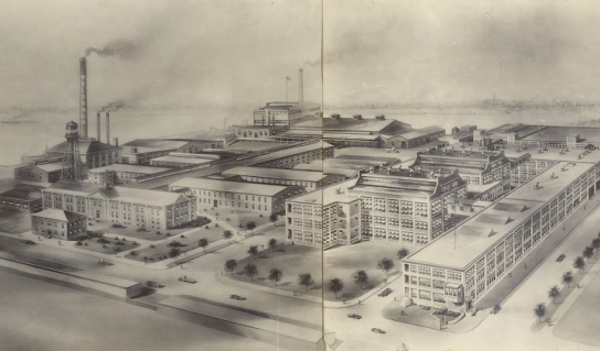 Exterior view of Welsbach Gas Light Company facility 1920s