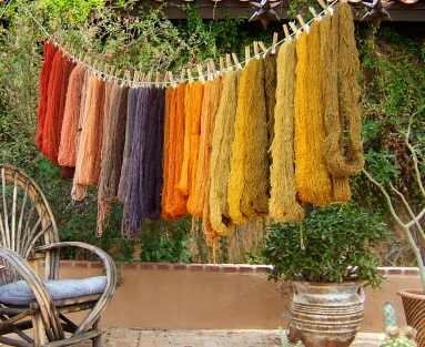Natrually dyed fibers