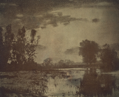 A photographic print toned with uranium, made around 1900.