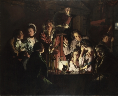 Joseph Wright's An Experiment on a Bird in the Air Pump (1768) housed at the National Gallery, London.