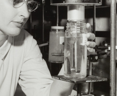 Woman at lab with instrument