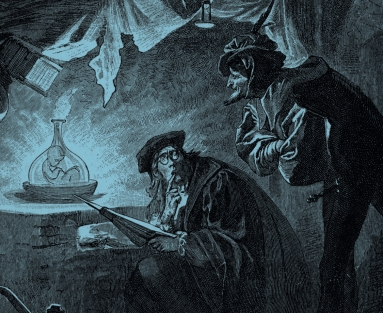 Making a homunculus from an 1899 edition of Goethe's Faust