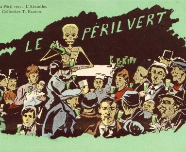 Le Peril Vert depicts absinthe ravaging the French population
