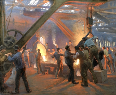 P.S. Krøyer's The Iron Foundry, Burmeister and Wain
