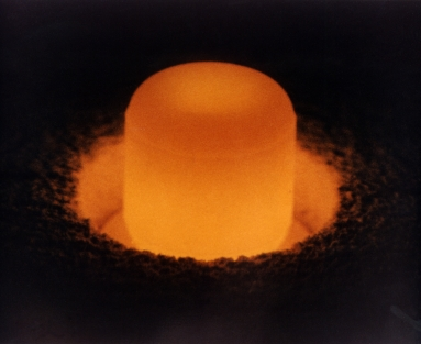 Plutonium-238 sphere under its own light