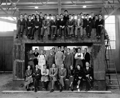 Lawrence and team, 1938