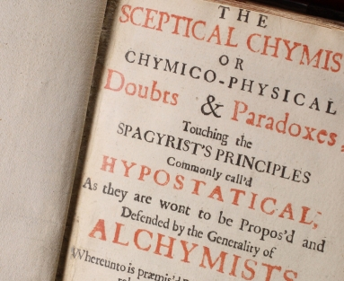 Title page of Boyle's Sceptical Chymist