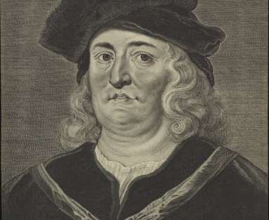 Engraved portrait of man