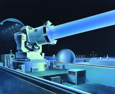Illustration of a large laser