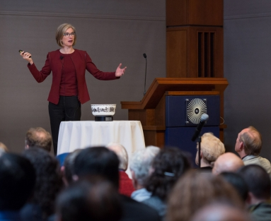 Jennifer Doudna gives the 2018 Ullyot Lecture