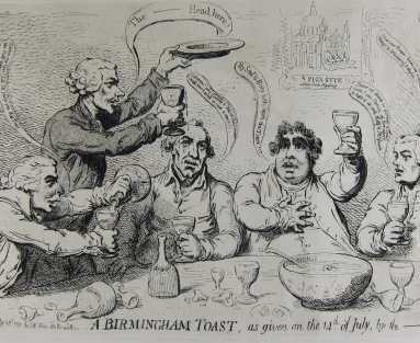 A Birmingham toast, as given on the 14th of July