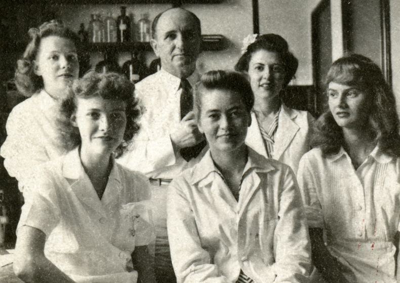 Michael Somogyi and Unidentified Women in Laboratory