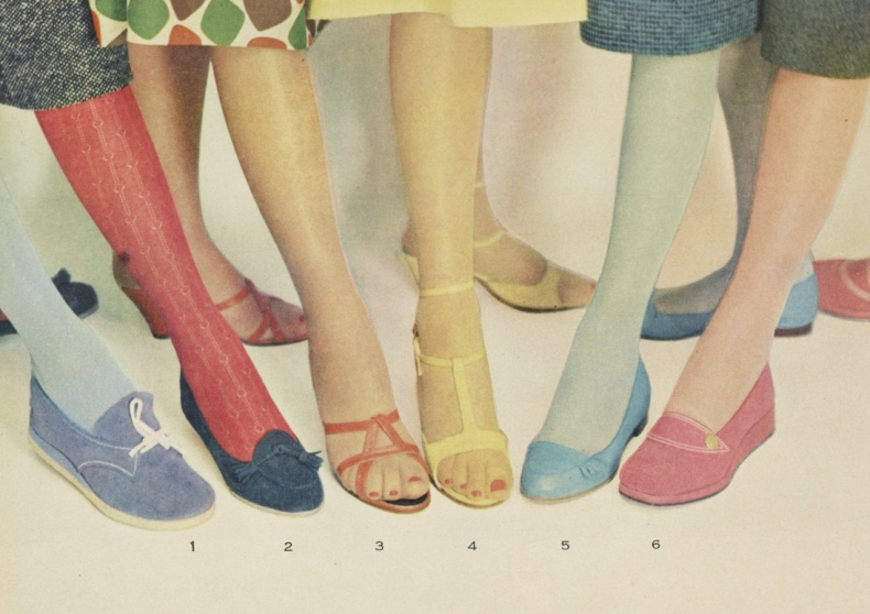 Ad for colored stockings 1955