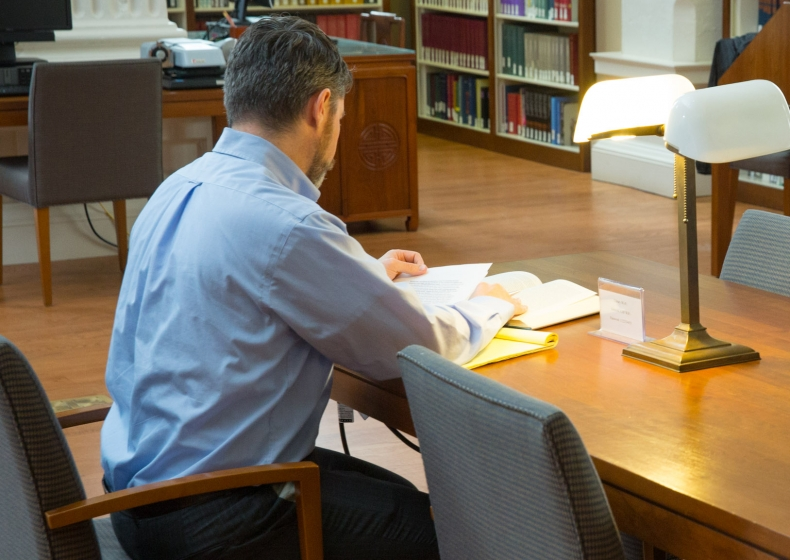 Fellows doing research in the Othmer Lbrary