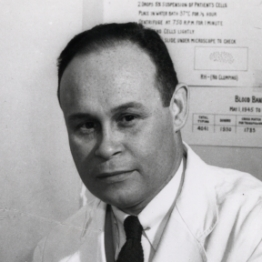 Charles Drew in the lab at Howard University, 1942.