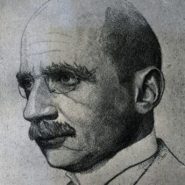 Fritz Haber, sketched in 1911 by W. Luntz.