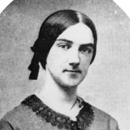 Ellen Swallow, about 1858.