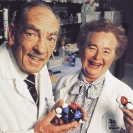 George Hitchings and Gertrude Elion 1988