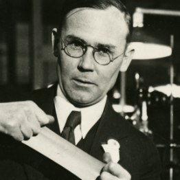 Wallace H. Carothers, shown here with neoprene.