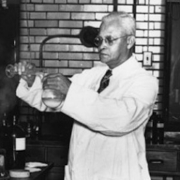 St. Elmo Brady in a chemistry lab at Fisk University circa 1950