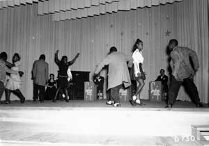 Hanford arranged Christmastime social dances to maintain morale, but whites and African Americans were offered separate functions.