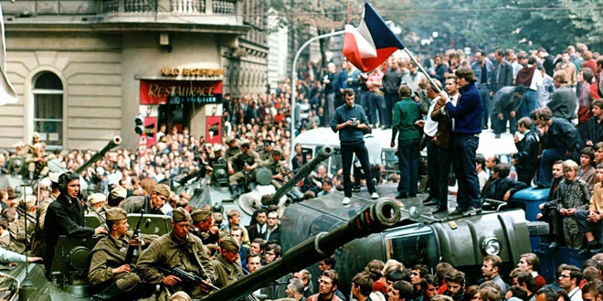 The 1968 Soviet occupation of Prague. Wichterle embraced the liberal reforms that swept through Czechoslovakia during the Prague Spring, though he suffered for his involvement when the Soviets crushed the reform-minded government. (Libor Hajsky/epa/Corbis
