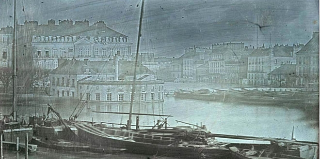 Daguerreotype of the 1843 Nantes flood