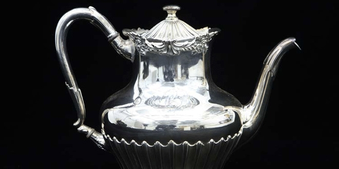 Silver-plated teapot