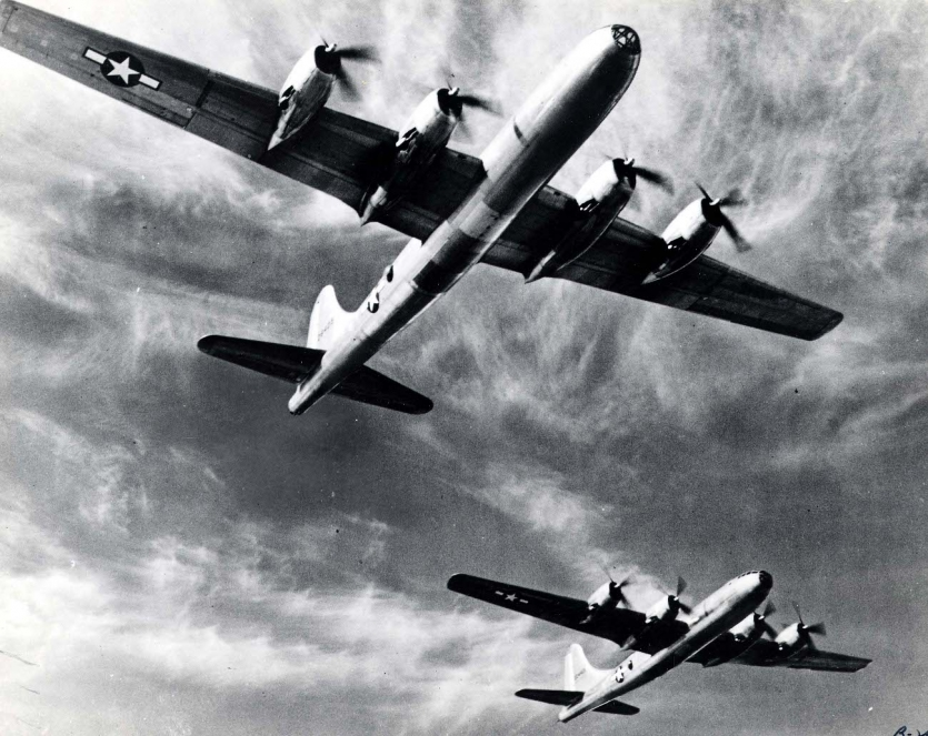 Boeing B-29 Superfortress heavy bombers