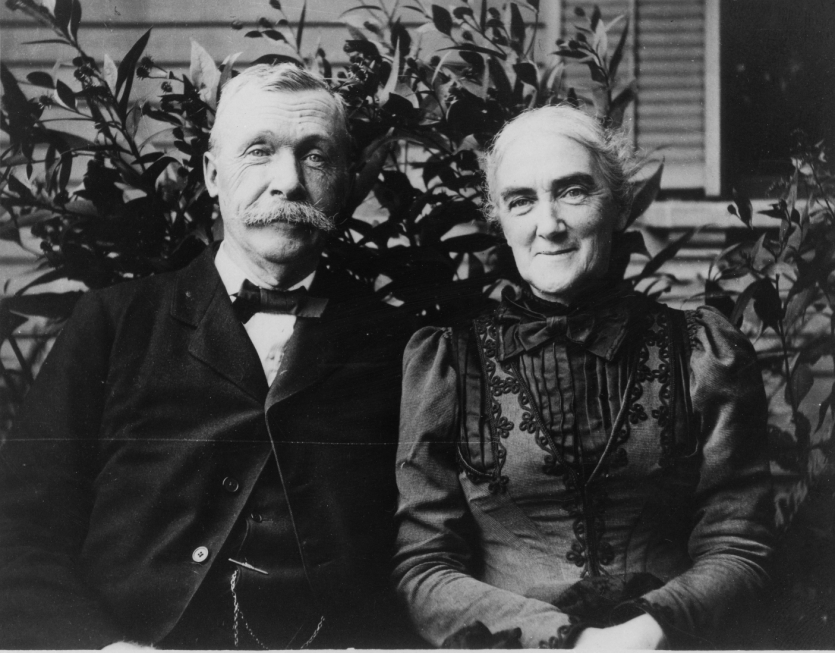Ellen H. Swallow Richards later in life with her husband Robert H. Richards.