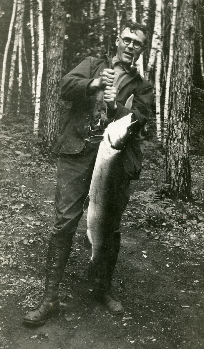 Wallace Carothers on a fishing trip.