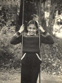 Uma Chowdhry as a young girl.
