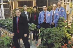 Chowdhry with colleagues at DuPont.