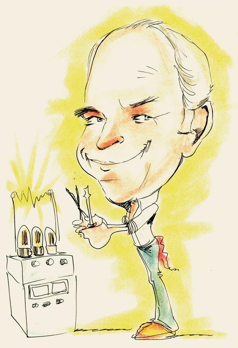 Caricature of Ken Shoulders, 1988