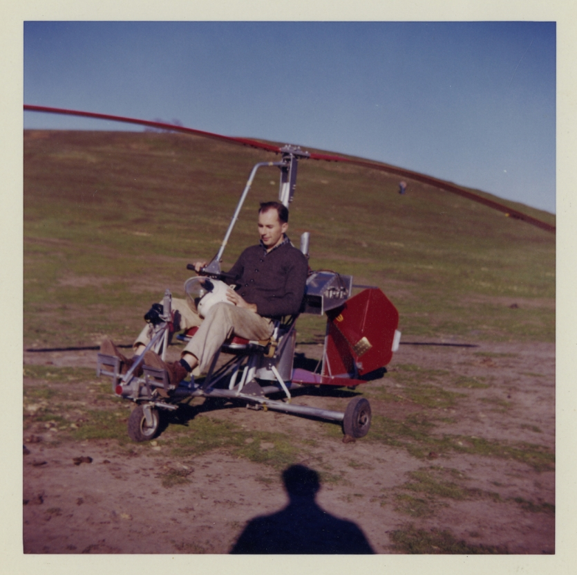 Shoulders in Bensen B-8M Gyro-Copter, 1962