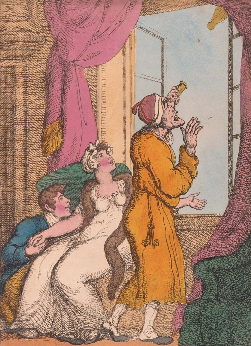 "Thomas Rowlandson's ""Looking at the Comet till You Get a Criek in the Neck."""