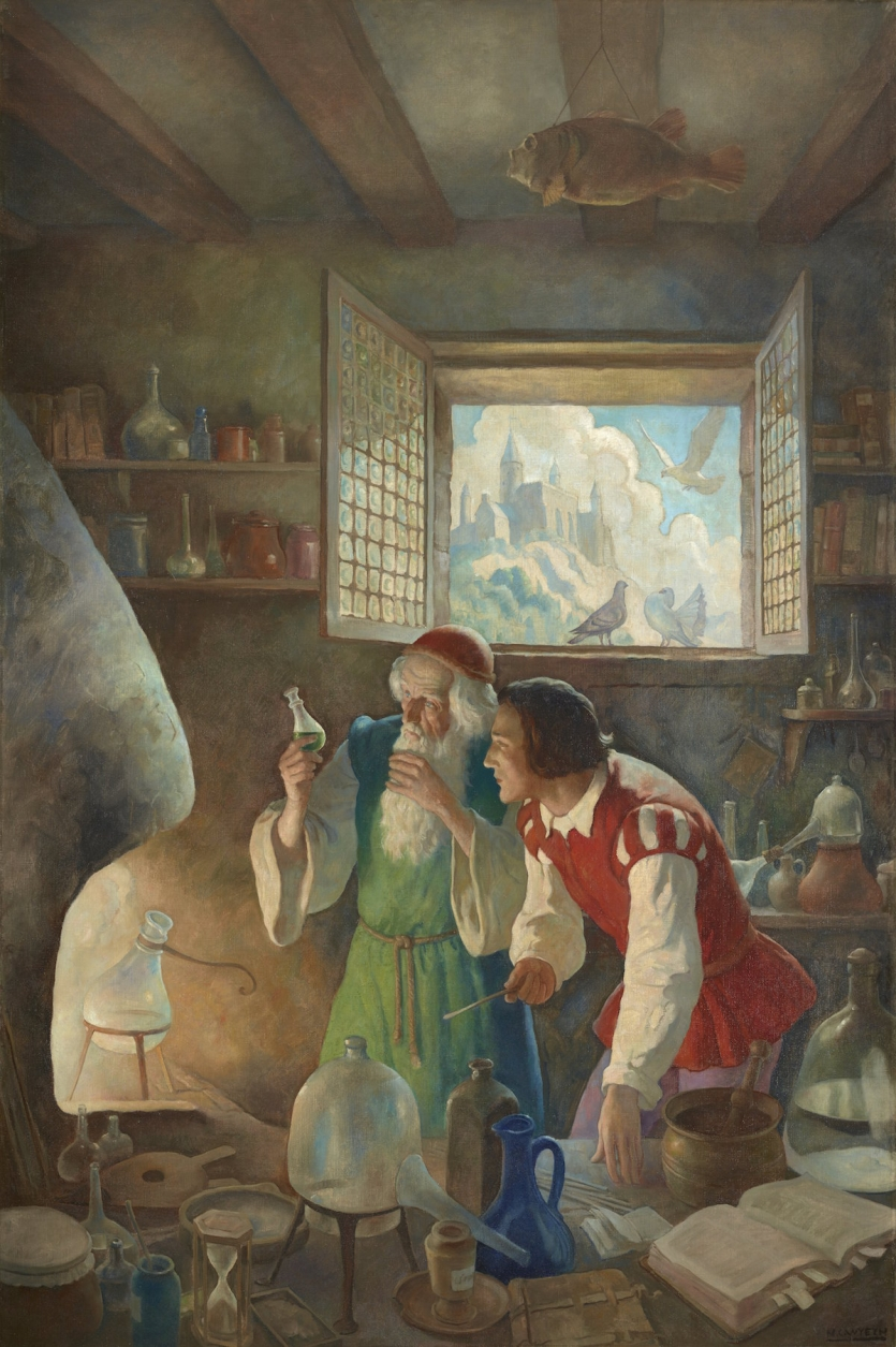 17th-century scientists in the lab