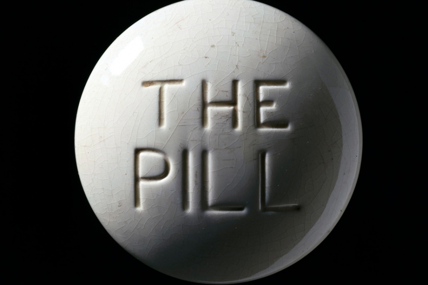 Close up photo of contraceptive pill