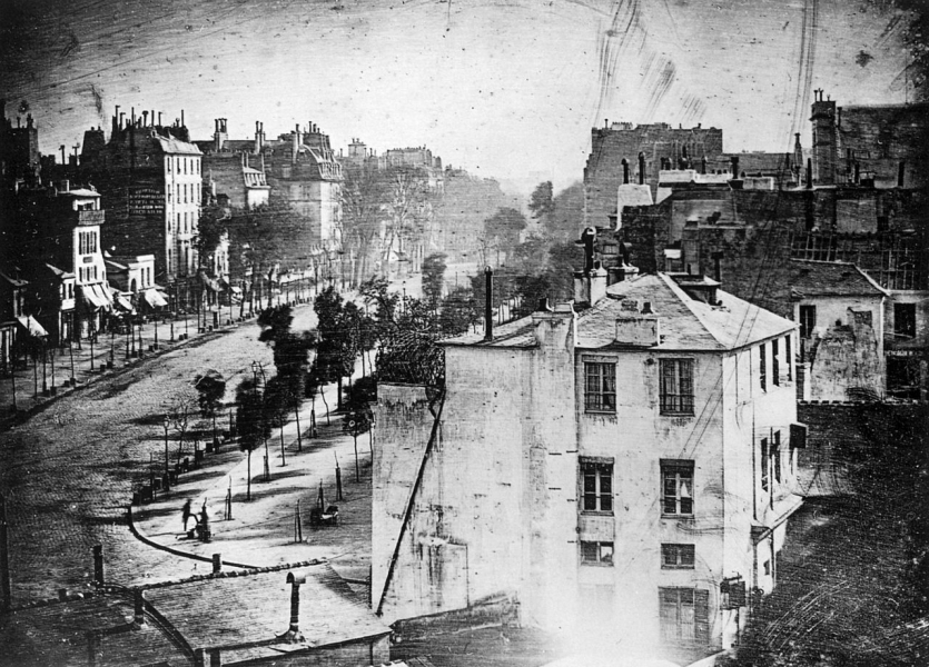 Daguerreotype of Boulevard du Temple, Paris