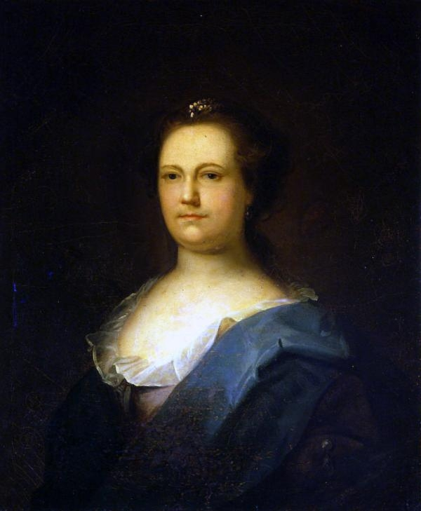 Oil Painting of Deborah Read Franklin