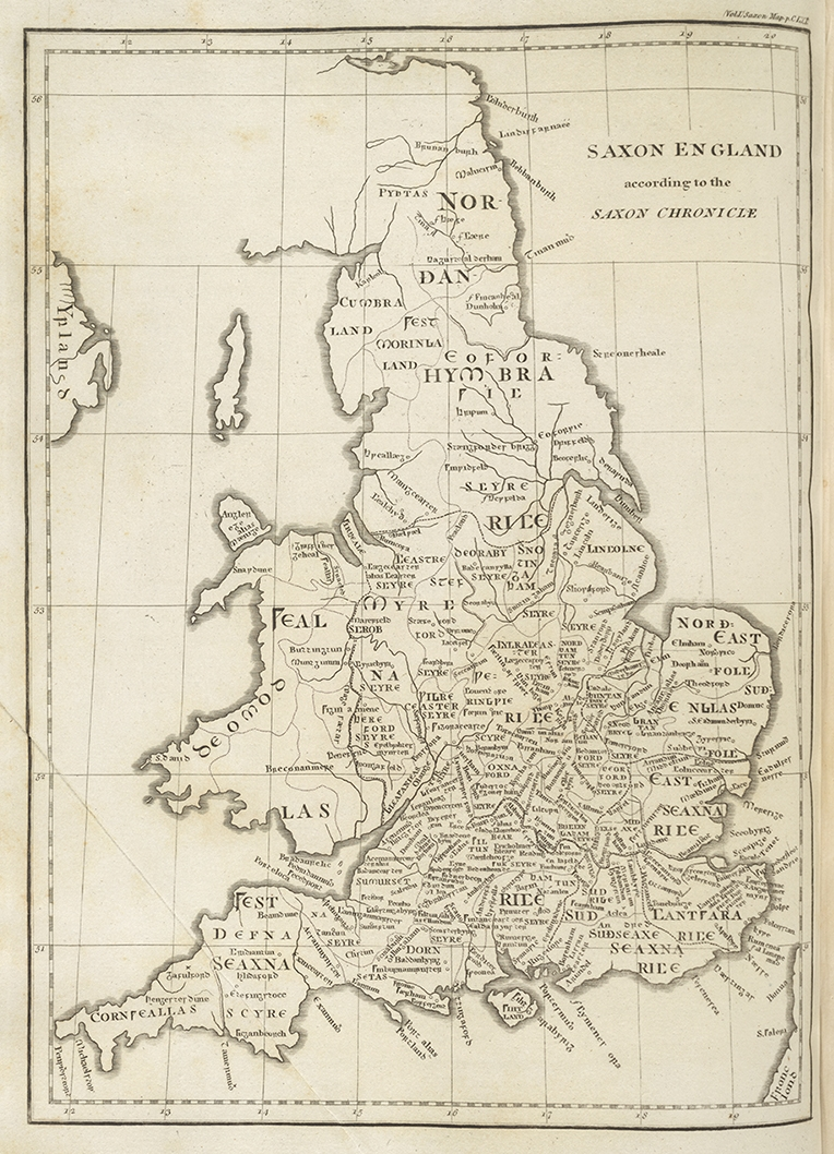 "Map of England from ""Britannia"" published in 1806"